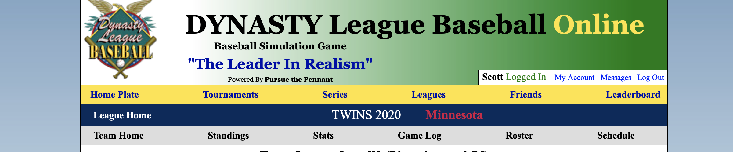 Twins Simulation Game 12, 4-7-20