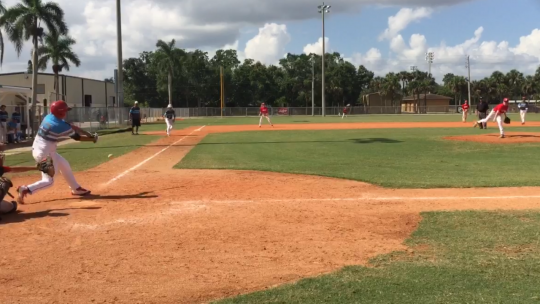 My son pitching in a Perfect Game Tourney in Ft. Myers, FL.
