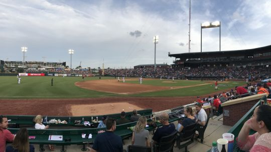 Chattanooga Lookouts v. Jacksonville 4/15/2017