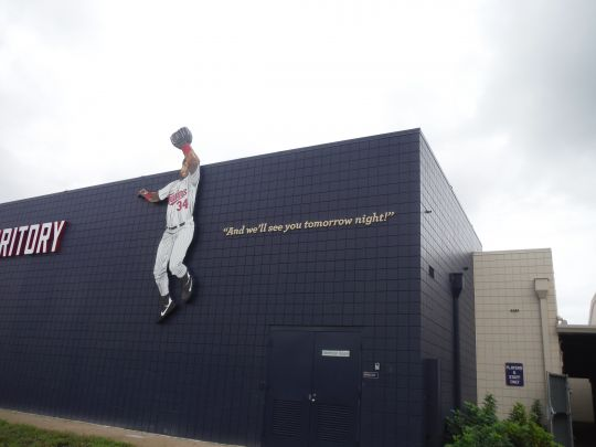 """Kirby Puckett Sign and Quote """"And we'll see you tomorrow night!"""""""