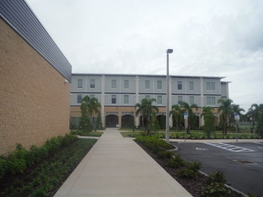 Side view of Player Housing Complex