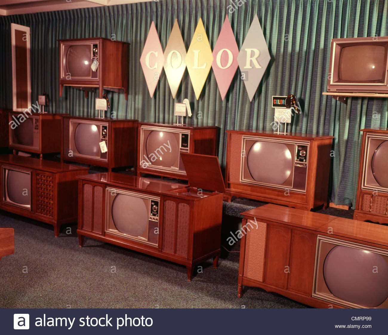 1960-1960s-display-of-color-television-sets-for-sale-department-store-CMRP99.jpg